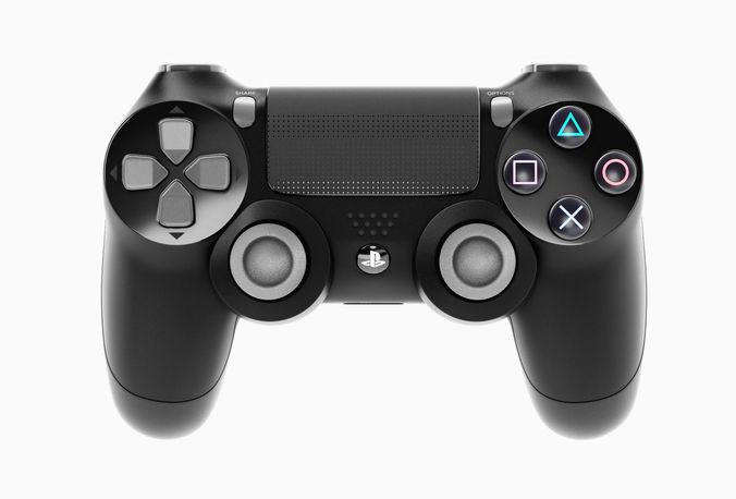 sony playstation ps4 pro controller 3d model max obj fbx c4d mtl 1