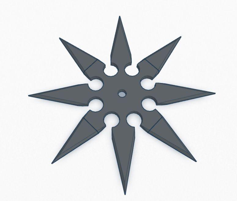 how to make a three pointed ninja star