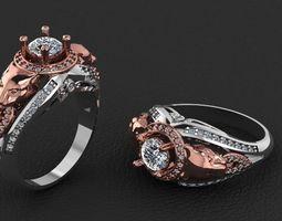 diamond ring panther 3D printable model