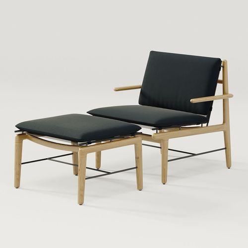 DWR Finn Lounge Chair And Finn Ottoman 3D Model