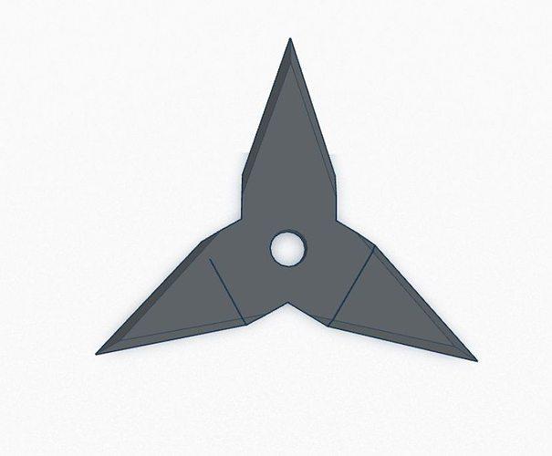 ninja star v3 - 3 point 3d model stl 1