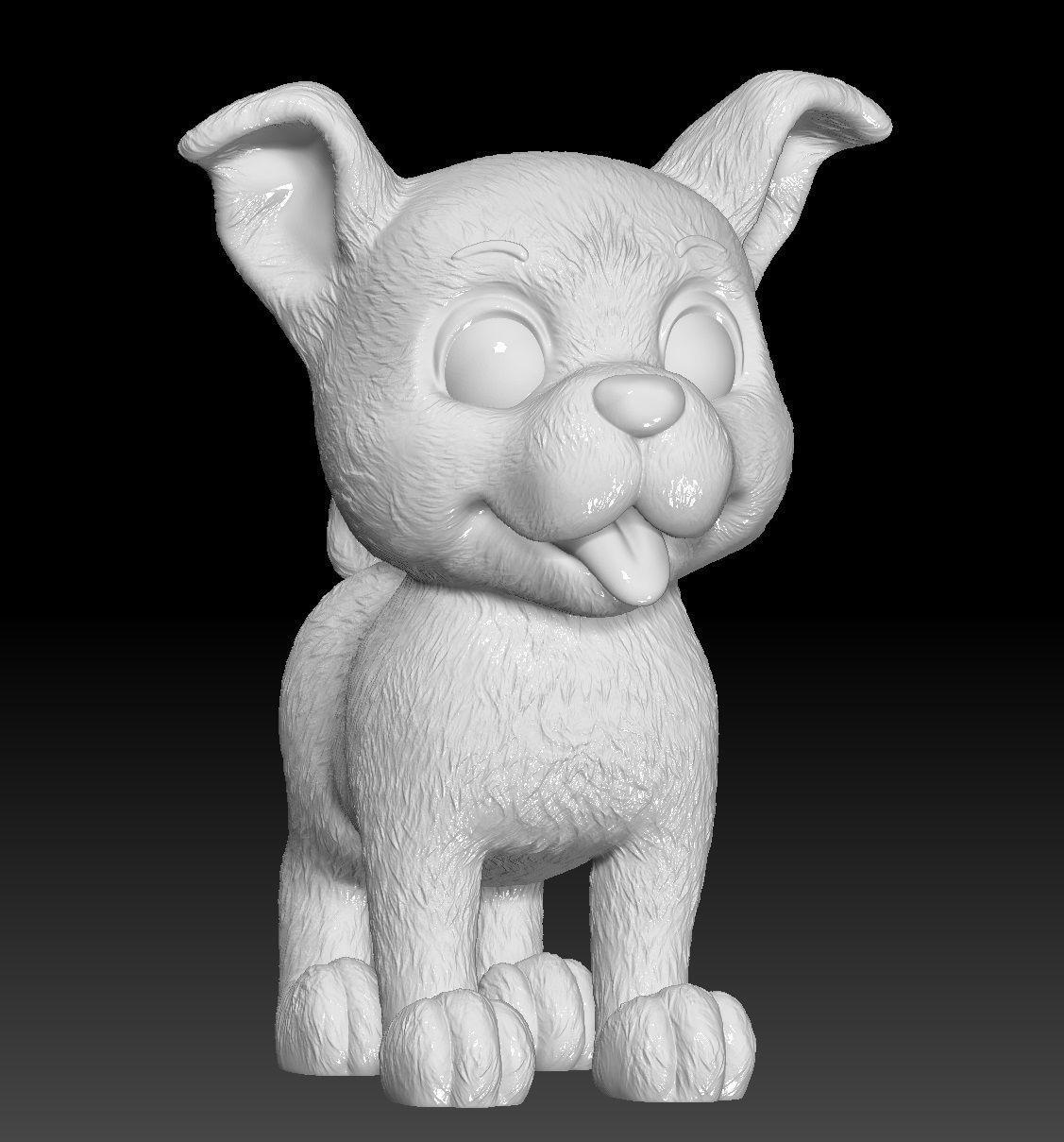 Little dog for 3d print