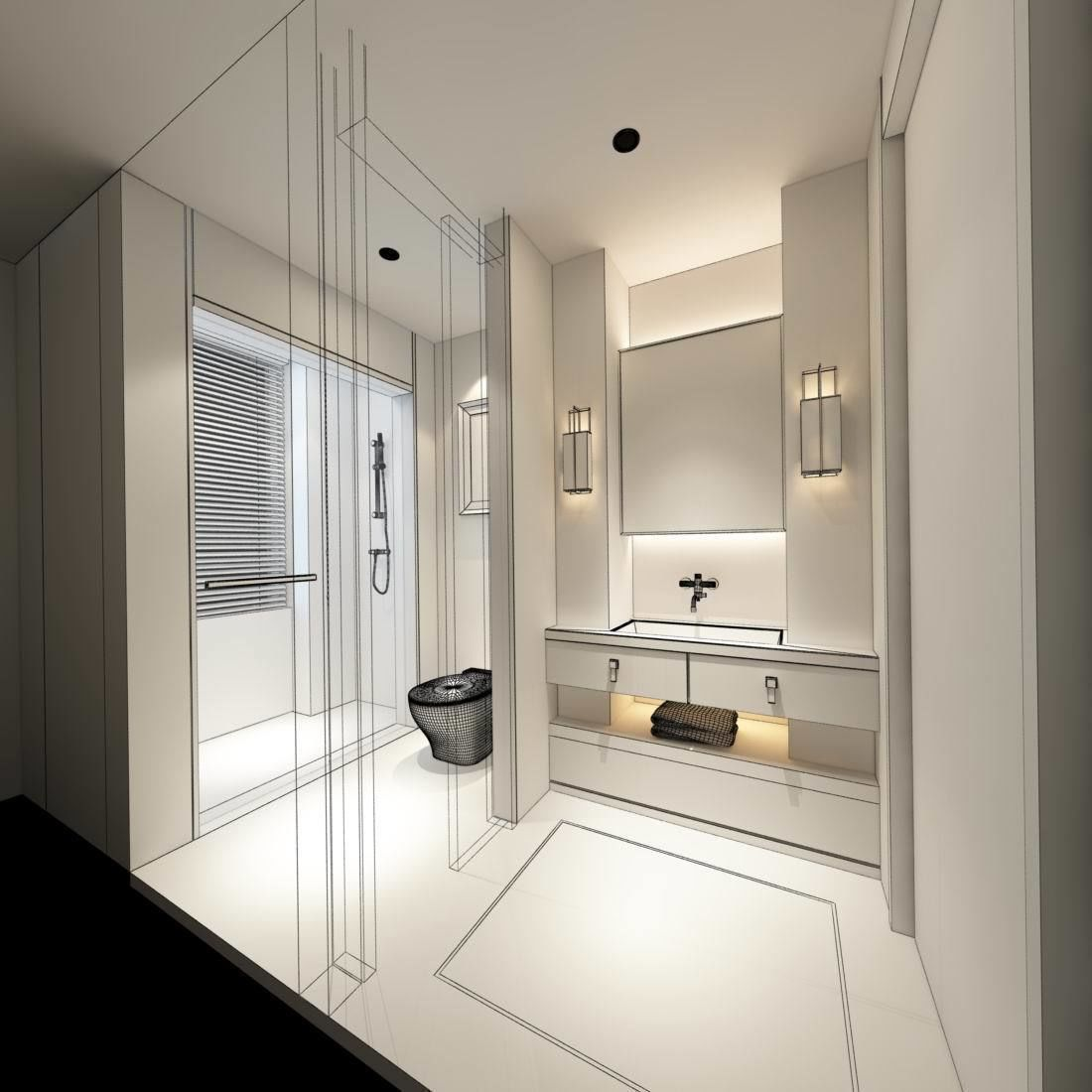 3D bathroom design complete model 60 | CGTrader