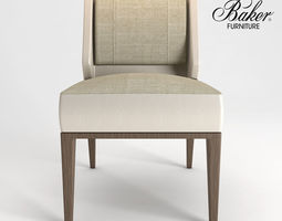 KUKIO SIDE CHAIR BARBARA BARRY No 3340 3D