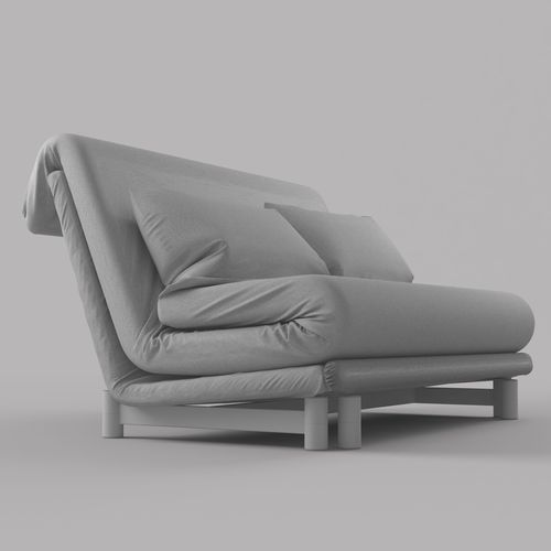 modern sofa bed by ligne roset 3d model max obj fbx. Black Bedroom Furniture Sets. Home Design Ideas