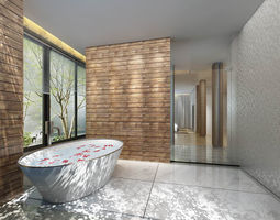 3D bathroom design complete model 107