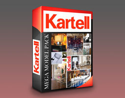 Kartell Models Mega Pack - 120 Models VR / AR ready