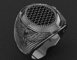 eagle man ring jewelry design 3D print model