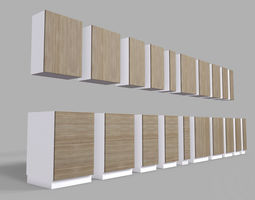 3D asset Kitchen Cabinet Collection