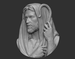 3D printable model Jesus The Good Shepherd Pendant