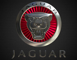 3D model jaguar logo 2