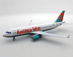 3D asset Airbus A320 Airliner - America West