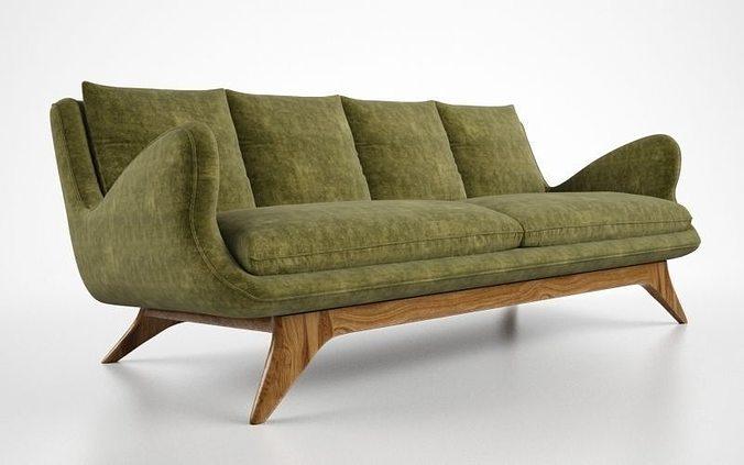 Vladimir Kagan Venetian Sofa Model Max Obj Mtl Fbx 2