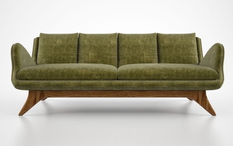 Vladimir Kagan Venetian Sofa 3d Model Max Obj Fbx 1 ...