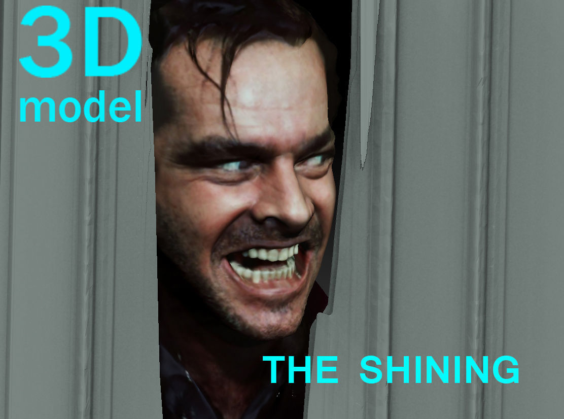 The Shining Jack Nicholson Door Scene TEXTURED