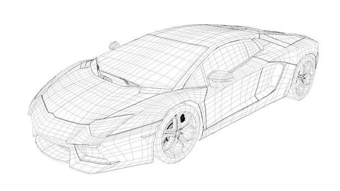 Lamborghini Aventador 3d Model Sport