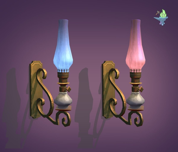 victorian sconce 3d model low-poly obj 3ds fbx stl blend dae 1