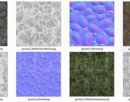 Ground - Textures Pack 3D model