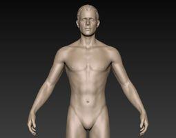 3D Male Basemesh 01