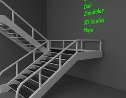 3D model flight of stairs