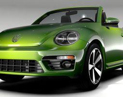 VW Beetle Convertible Turbo 2018 3D model