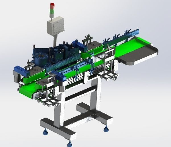 Assembly line of labeling machine