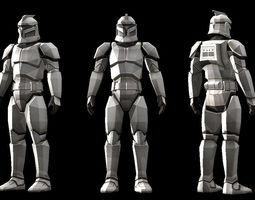 3D print model Low polygon Star wars Clonetrooper