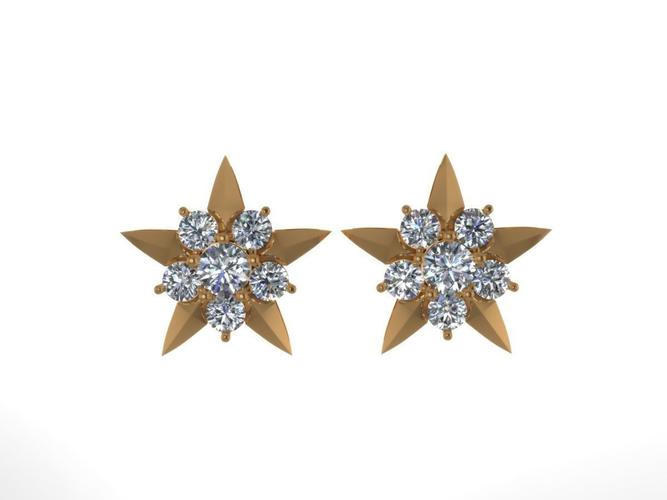 earrings with diamonds 3d print model 10 3d model stl 3dm 1