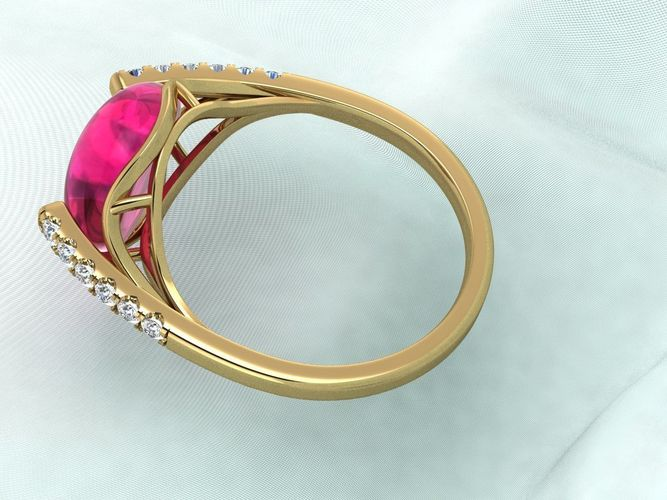sweet ruby ring 3d model stl 1