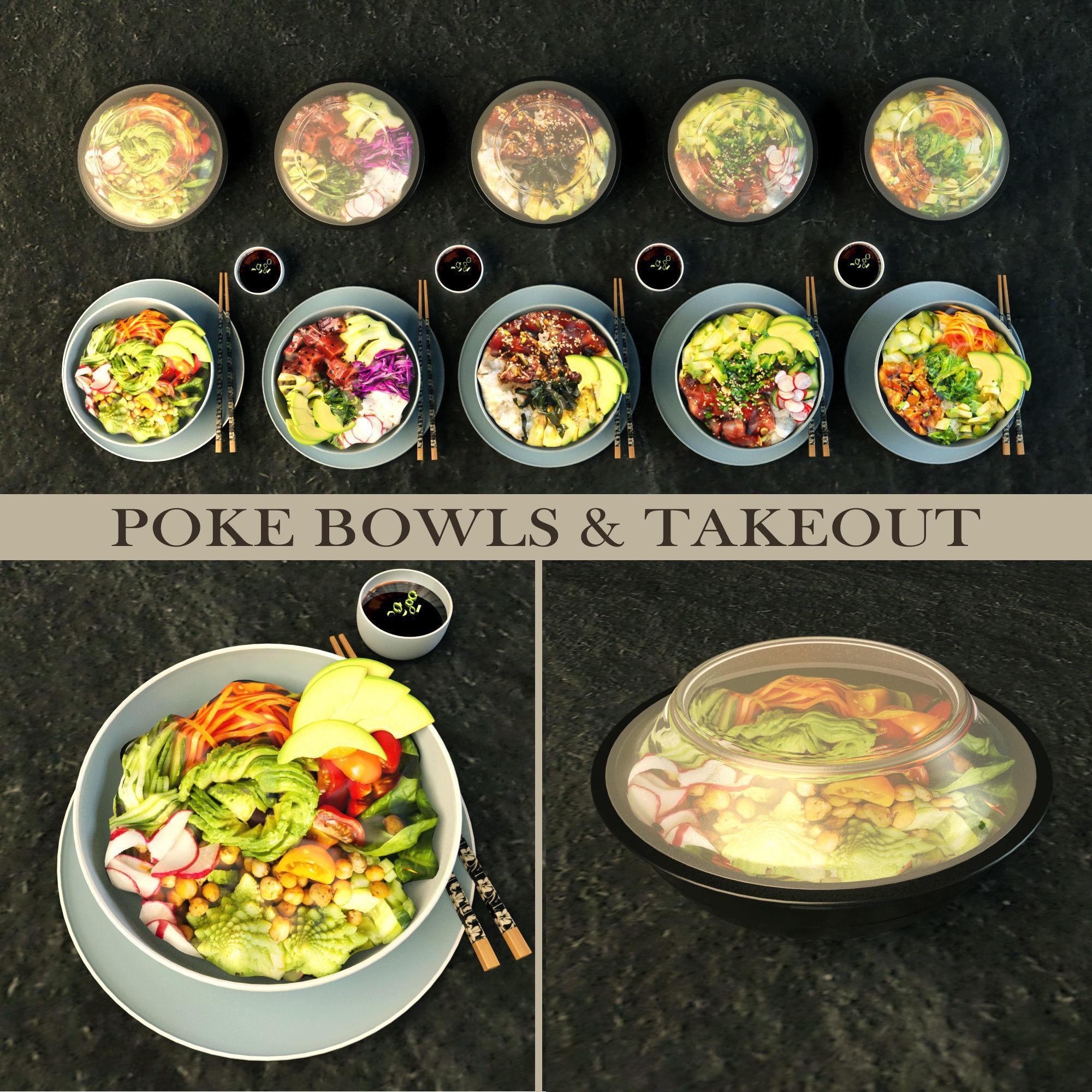 Poke bowl take out