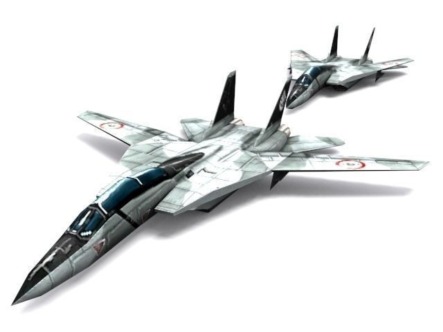 f-14 b tomcat 3d model low-poly max obj mtl 3ds fbx dxf tga 1