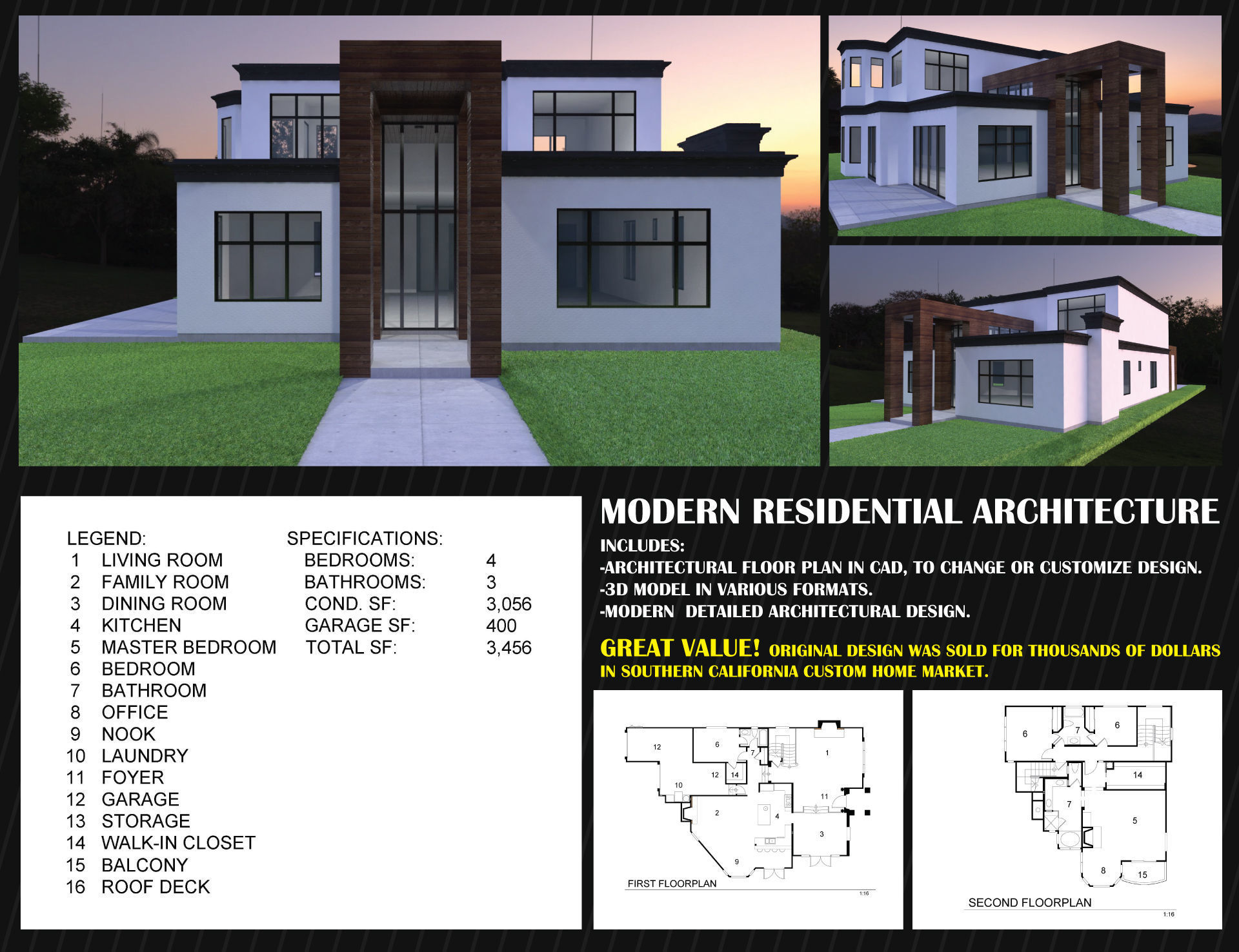 3d asset modern residential architecture contemporary 1