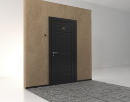 castle The input metal doors 3D