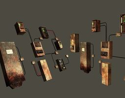 Free Game Ready Fusebox Collection - Clean and 3D asset
