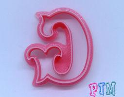 3D print model Vintage letter G cookie cutter