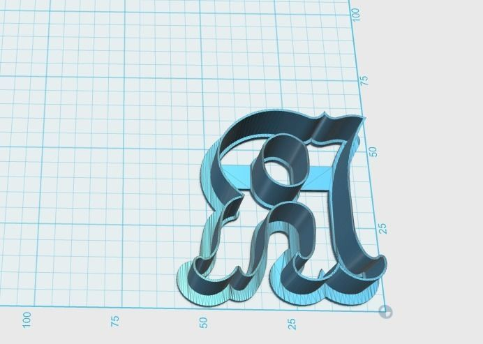 3d printable model vintage letter r cookie cutter vintage letter r cookie cutter 3d model stl 2 thecheapjerseys Images