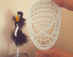 Spiderman Face Cookie Cutter 3D printable model hand-tools