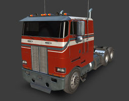 3D asset game-ready Large Truck