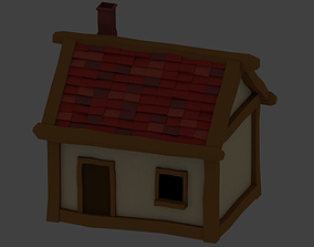 3D asset LowPoly House