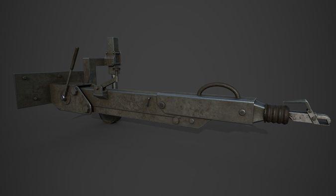 towing device 3d model low-poly obj 3ds fbx blend mtl 1