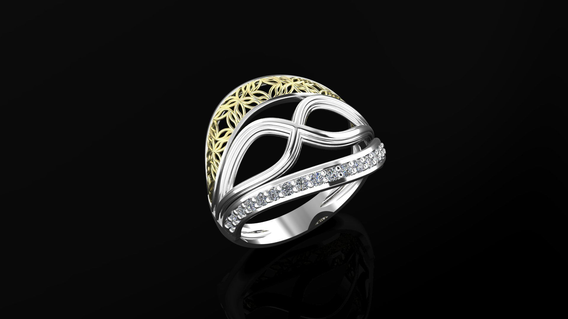 Fashion ring | 3D Print Model