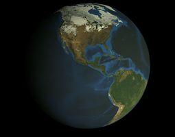 HD Animated Earth Model animated