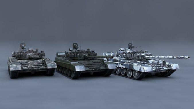 feb7acd0579b 3D model MBT T-80