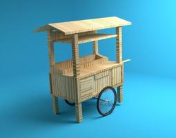 Gerobak - Traditional Wagon 3D model
