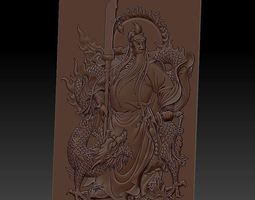 GuanGong and dragon 3D printable model