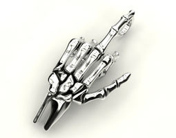 Human hand bones pendant 3D printable model