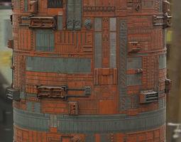 3D model Scifi Wall Panel Texture