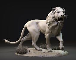 Lion Zbrush Sculpt 3D model