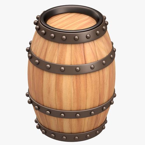 Beer Barrel Furniture Set 3D model | CGTrader