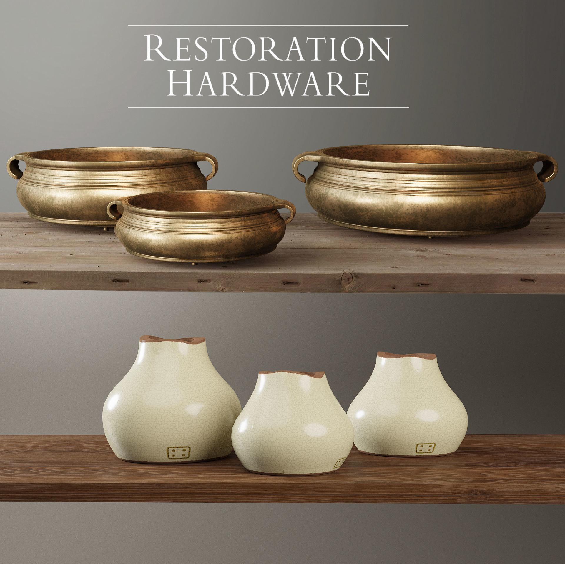 Restoration Hardware decorative set